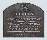 Mondolat emléktábla - Veszprém