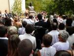 Szent Isván szoboravatás  Székelyszentkirály (Erdély)